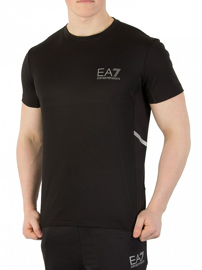 EA7 Black Ventus 7 T-Shirt