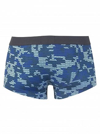 Emporio Armani Blue Logo Trunks