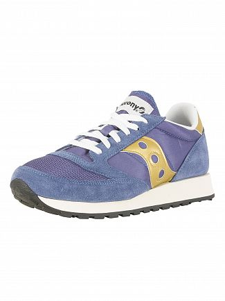 Saucony Navy/Gold/Marine Jazz Original Vintage Trainers