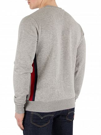 Tommy Hilfiger Cloud Heather Stripe Logo Sweatshirt