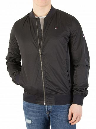 Tommy Jeans Tommy Black Essential Straight Bomber Jacket