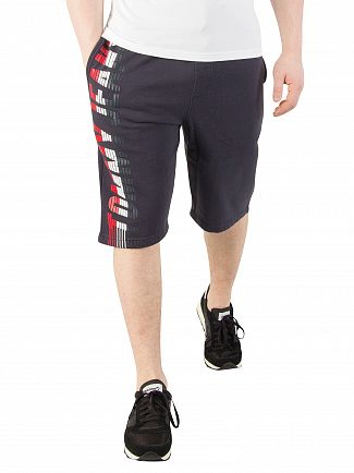 Tommy Jeans Black Iris Graphic Basketball Shorts