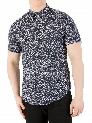 Tommy Jeans Ladder Ditsy/Black Iris Printed Shortsleeved Shirt