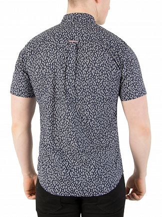 Tommy Jeans Ladder Ditsy/Black Iris Printed Shortsleeved Shirt