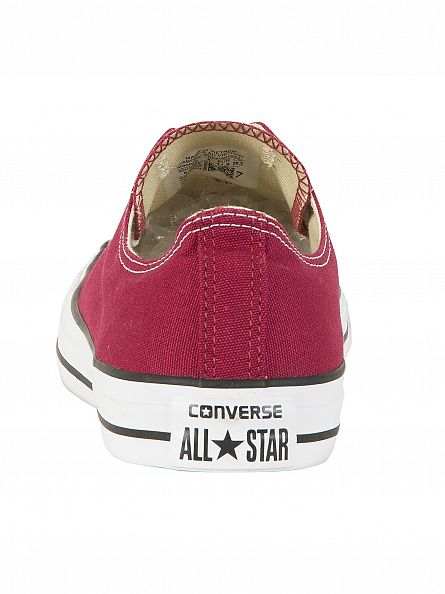 Converse Maroon All Star Ox Trainers