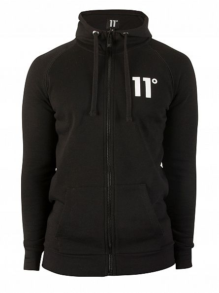 11 Degrees Black Base Logo Zip Hoodie