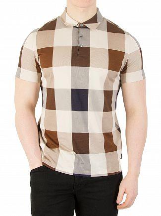 Aquascutum Vicuna Cody Check Polo Shirt