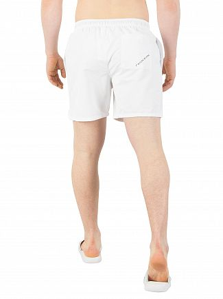 Calvin Klein White Medium Drawstring Swim Shorts