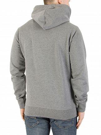 Calvin Klein Jeans Mid Grey Heather Hikos Graphic Pullover Hoodie