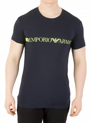 Emporio Armani Marine Stretch Cotton T-Shirt