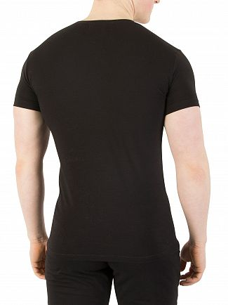 Emporio Armani Black Stretch Cotton T-Shirt