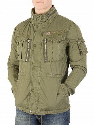 Schott Khaki Squad Jacket
