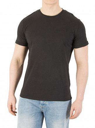 Superdry Carbon Black Orange Label Light T-Shirt