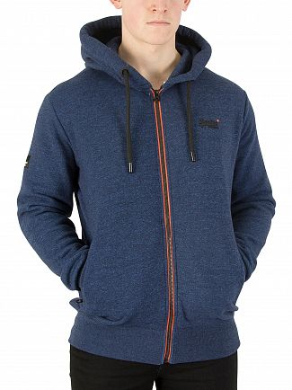 Superdry Urbanite Carbon Grit Orange Label Urban Zip Hoodie