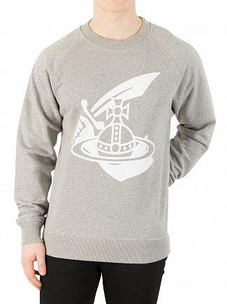 Vivienne Westwood Grey Large Orb Logo Sweatshirt
