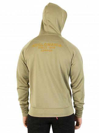 Vivienne Westwood Olive Orb Logo Zip Hoodie