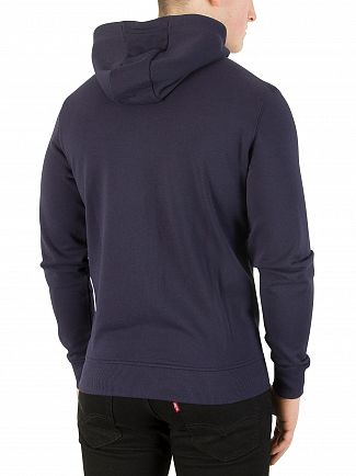 Lyle & Scott Navy Zip Through Hoodie