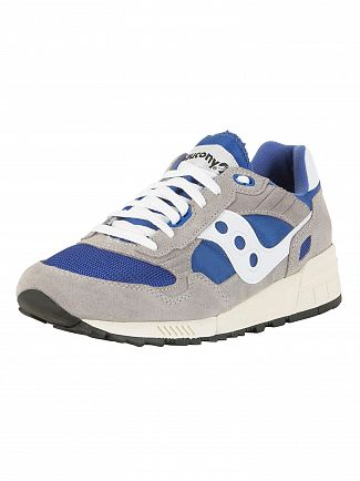 Saucony Grey/Blue Shadow 5000 Vintage Suede Trainers