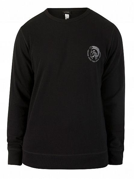 Diesel Black UMLT Willy Logo Sweatshirt