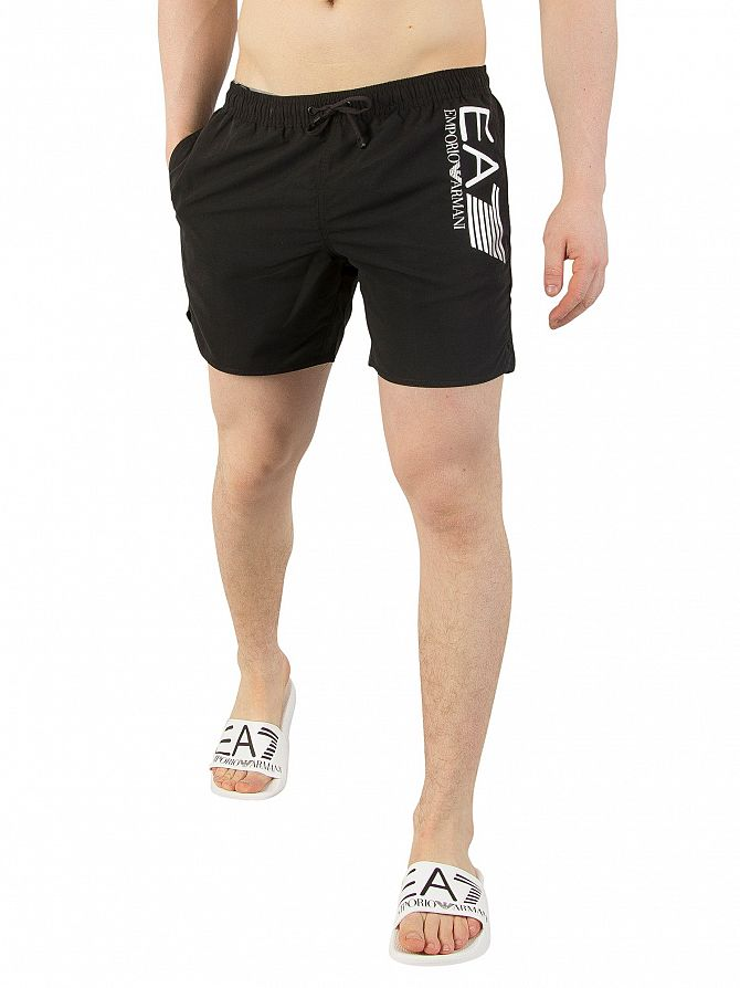 EA7 Black Sea World Swim Shorts