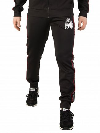 Kings Will Dream Black/Red Roxberry Poly Tape Joggers