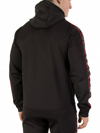 Kings Will Dream Black/Red Roxberry Poly Tape Zip Hoodie