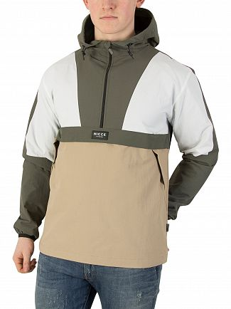 Nicce London Khaki/Sand/White Nero Kagoule Jacket