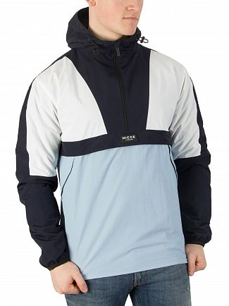 Nicce London Navy/Blue/White Nero Kagoule Jacket
