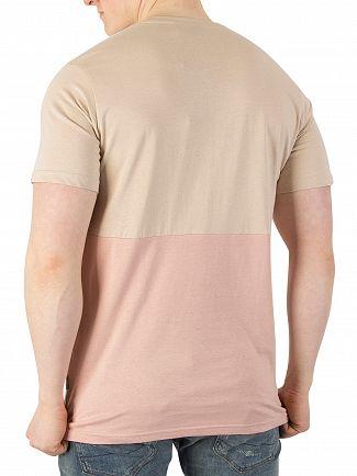 Nicce London Warm Sand/Dusty Pink Treble T-Shirt