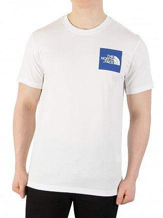The North Face White/Turkish Sea Fine T-Shirt