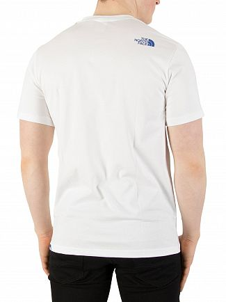 The North Face White/Turkish Sea Fine T-Shirt