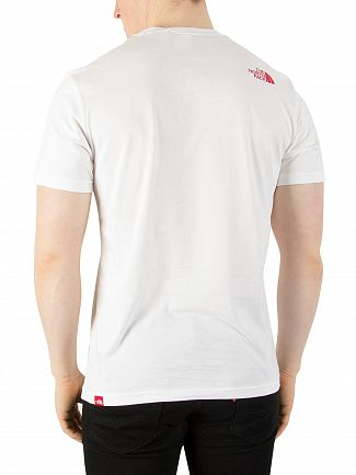 The North Face White/Red Fine T-Shirt