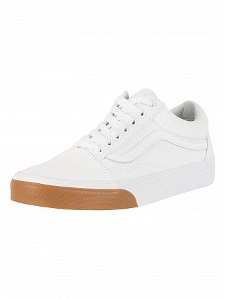 Vans True White/Gum Bumper Old Skool Trainers