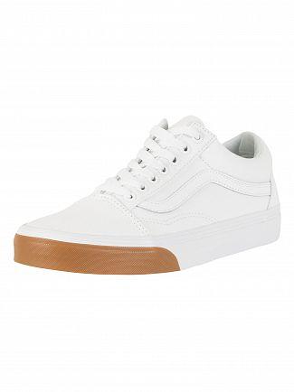 Vans True White/Gum Bumper Old Skool Trainers