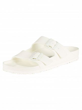 Birkenstock White Arizona EVA Sandals