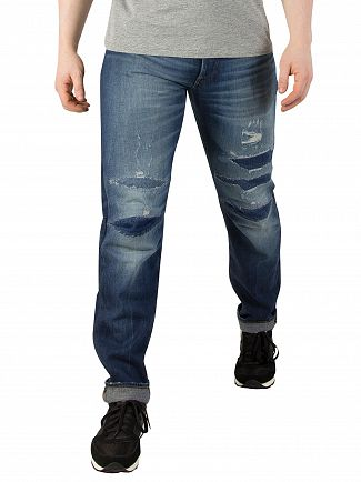 G-Star Medium Aged 3301 3D Restored 207 Tapered Jeans