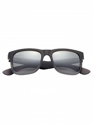 Ray-Ban Silver Gradient Mirror Justin Sunglasses