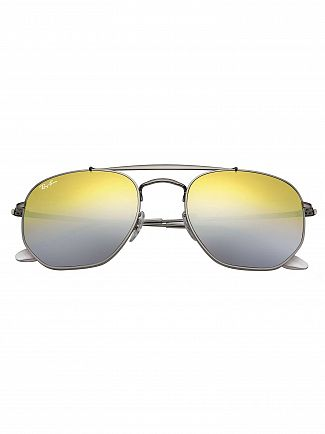 Ray-Ban Brown Gradient Mirror Marshal Steel Sunglasses