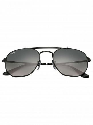 Ray-Ban Grey Gradient Marshal Steel Sunglasses