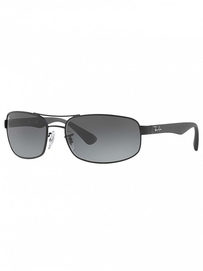 Ray-Ban Grey Gradient Orb Steel Sunglasses