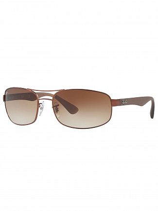 Ray-Ban Brown Gradient Orb Steel Sunglasses