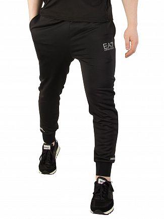 EA7 Black Jersey Joggers
