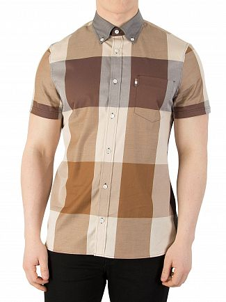 Aquascutum Vicuna Henlake Giant Short Sleeved Shirt