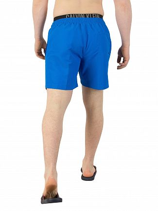 Calvin Klein Electric Blue Lemonade Double Waistband Swim Shorts