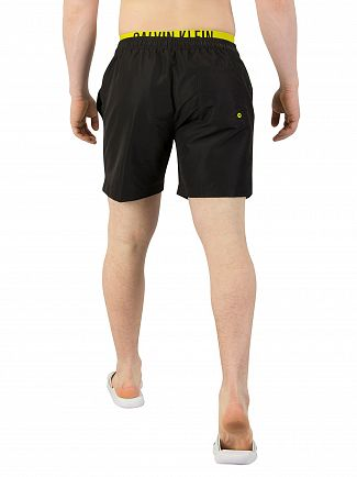 Calvin Klein Black Double Waistband Swim Shorts