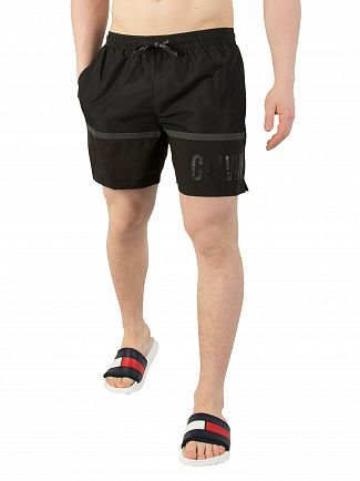 Calvin Klein Black Medium Drawstring Swim Shorts