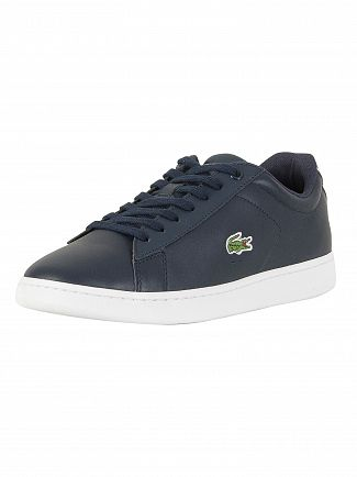 Lacoste Navy Carnaby Evo BL 1 SPM Leather Trainers