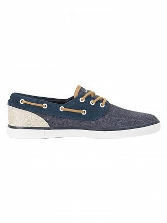 Lacoste Navy Jouer Deck 218 1 CAM Trainers