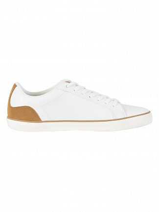 Lacoste White/Light Brown Lerond 118 1 CAM Leather Trainers