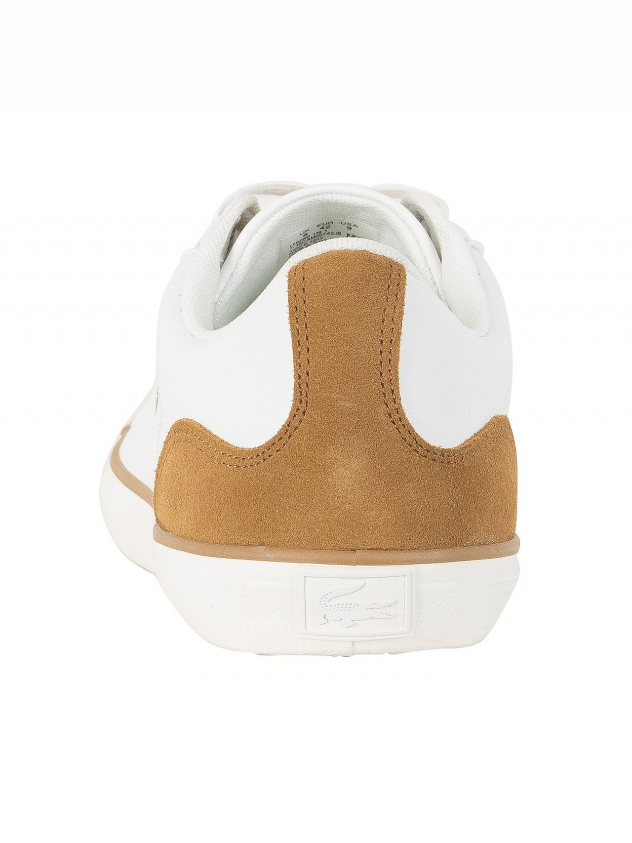 80b807b77 Lacoste White Light Brown Lerond 118 1 CAM Leather Trainers